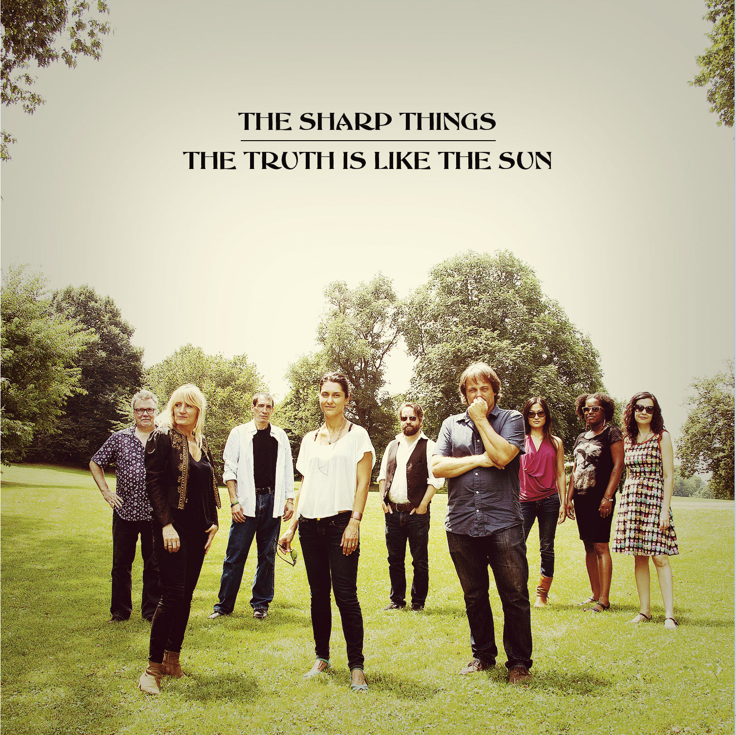 The Sharp Things, The Truth Is Like The Sun album cover [front]